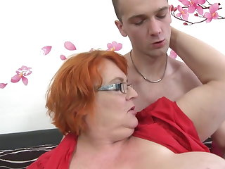 Granny SSBBW fucked by young crony