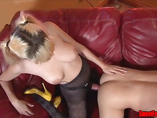 Meet Our New Beau CUCKOLDING FEMDOM PEGGING CUM EATING