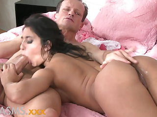 ORGASMS Tanned hungarian beauty loves to ride his load of shit