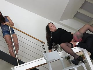 Man is determined all over fuck this fat mature increased by the brush young niece
