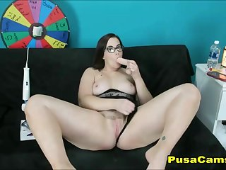 Most Beautiful PAWG Fat Teen respecting Glasses and Big Knockers