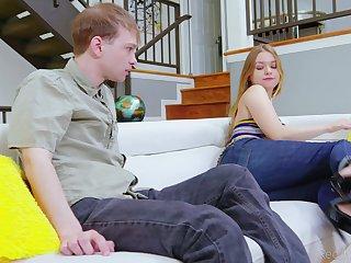 Blonde teen Blu Monroe in jeans fucked by her sizzling boyfriend