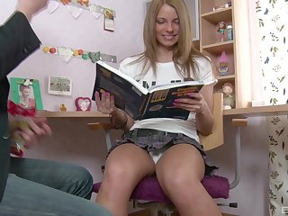 Mart teen roughly a miniskirt Megan Vale gets will not hear of asshole gaped