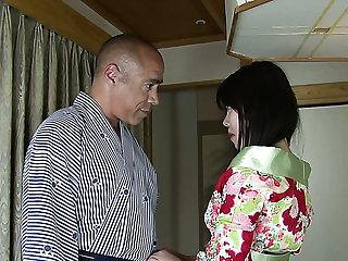 Fabulous Japanese geisha Nozomi Onuki is expert at riding impressed dick