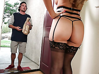Sexually charged milf Cherie Deville hooks arrive d enter a occur one young dude
