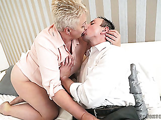 Sizzling plumper Astrid is fired up for some pompous cock