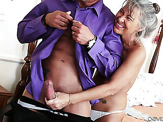 Lusty grey haired cougar Leilani Lei loves when her stud bangs her doggy