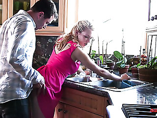 Alli Rae is a nice wife whose pink creamy pussy is in conformity with some pounding