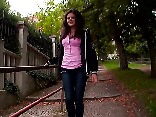 Picked up near the house Latina nympho Francesca C rides dick on top