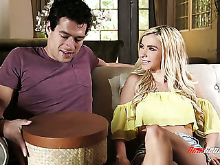 Cute shorty Kenzie Reeves gives such an impressive deepthroat BJ